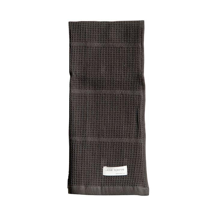 Emmeline+Kitchen+Towel,+Charcoal+2+pcs,+Lene+Bjerre