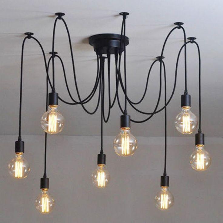 17 mejores ideas sobre lámpara de araña de edison en pinterest ...