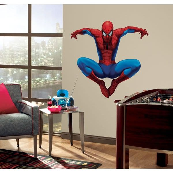 Bon Spiderman Wall Sticker, Giant Comic Book Wall Stickers, Wall Stickers