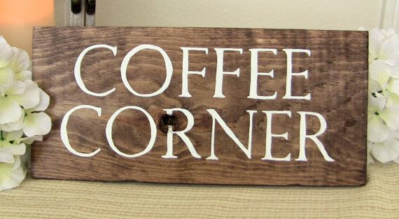Coffee Corner Sign, Wood Sign, Coffee sign, Kitchen Signs, Coffee Decor