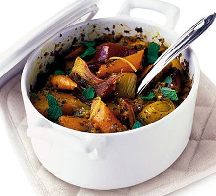 A spicy vegetarian hotpot that's as warm and comforting as it is healthy - and gives you your 5-a-day too