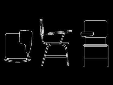 Pupitre, banco, silla, mobiliario escolar