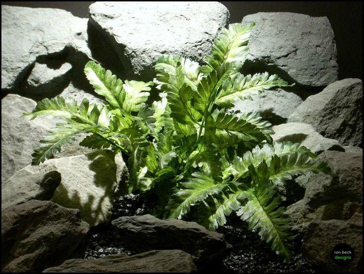silk reptile plant or snake habitat bracken fern srp125 from ron beck designs | ronbeckdesigns.com #ron_beck_designs #aquarium #plant #decor #artificial #reptile #Reptile #Terrarium