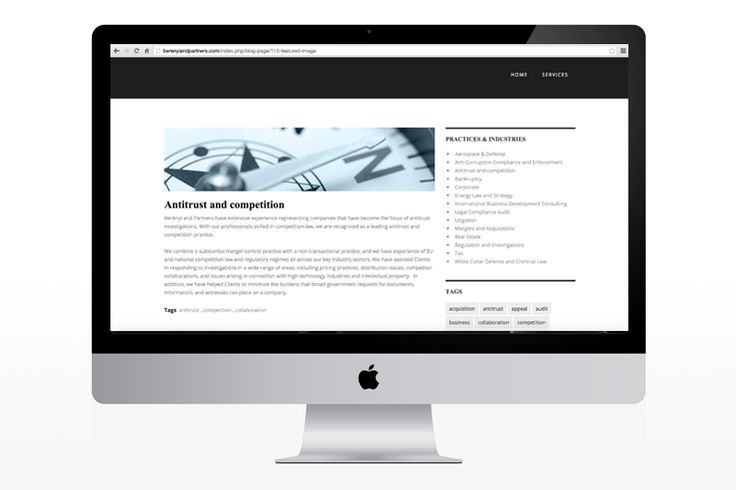 Berényi and Partners website
