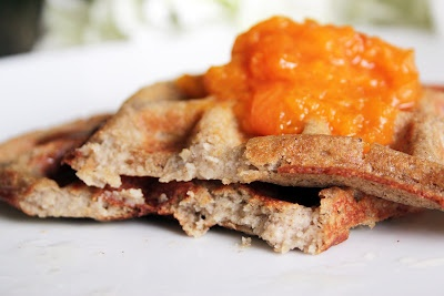 Butterscotch Apricot Waffles ~ The Skinny Weigh (V/GF)
