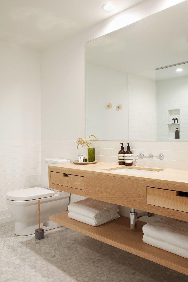 Lisa Jones' Shelter Island House Bathroom Vanity, Photo by Jonathan Hokklo