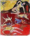 Beatus de Saint-Sever : le déluge. - Le Beatus de St-Sever dit aussi Apocalypse de St-Sever, est un manuscrit enluminé contenant un commentaire de l'Apocalypse de Beatrus de Liébana, réalisé sans doute à l'abbaye de St Sever, dans l'actuel département des Landes, au milieu du 11°s.