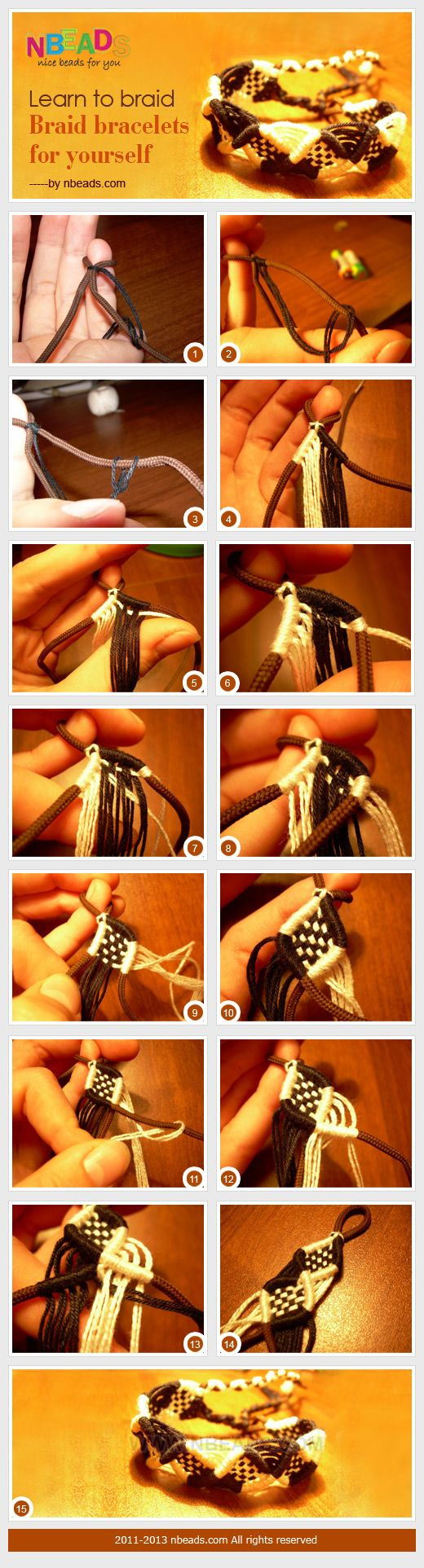 Learn to braid - Braid bracelets for yourself