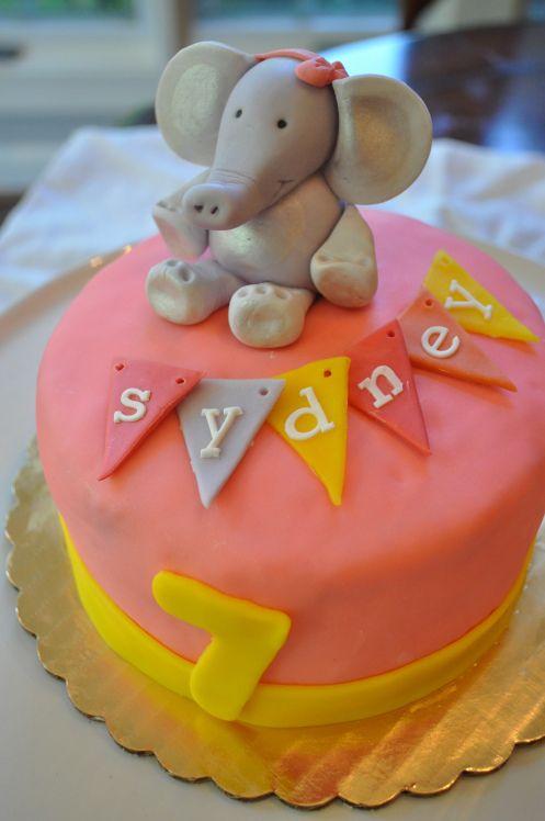 Girly elephant cake