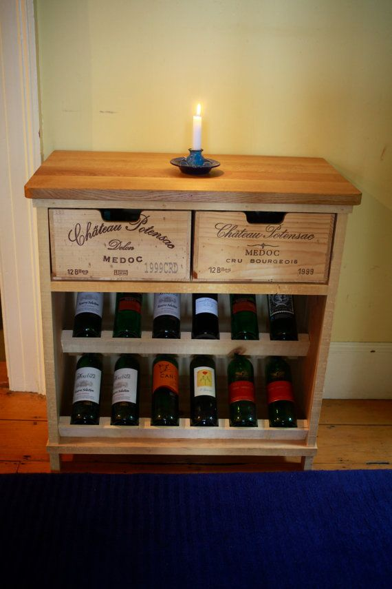 Handmade rustic wine rack by BoisRustique on Etsy