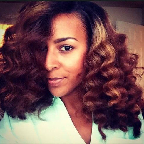 How to| Soft Beautiful Curls with a Curl Wand on Natural Hair
