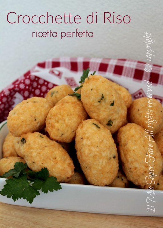 Crocchette di riso ricetta perfetta calabrese di mamma Carmela il mio saper fare