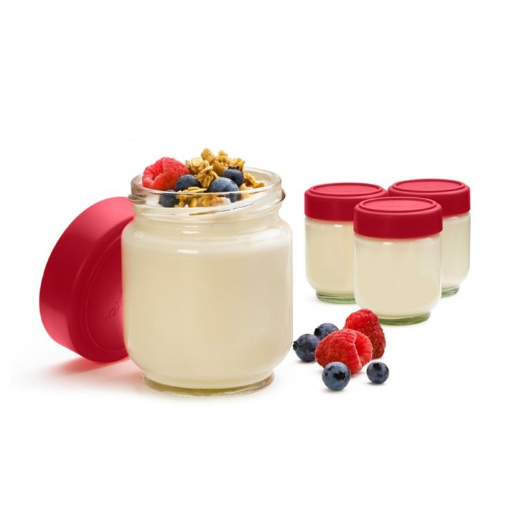 Cuisipro Leak-Proof Glass Jars, Set of 4 | Great for storing homemade sauces, dressings & yogurts! #storage #kitchen