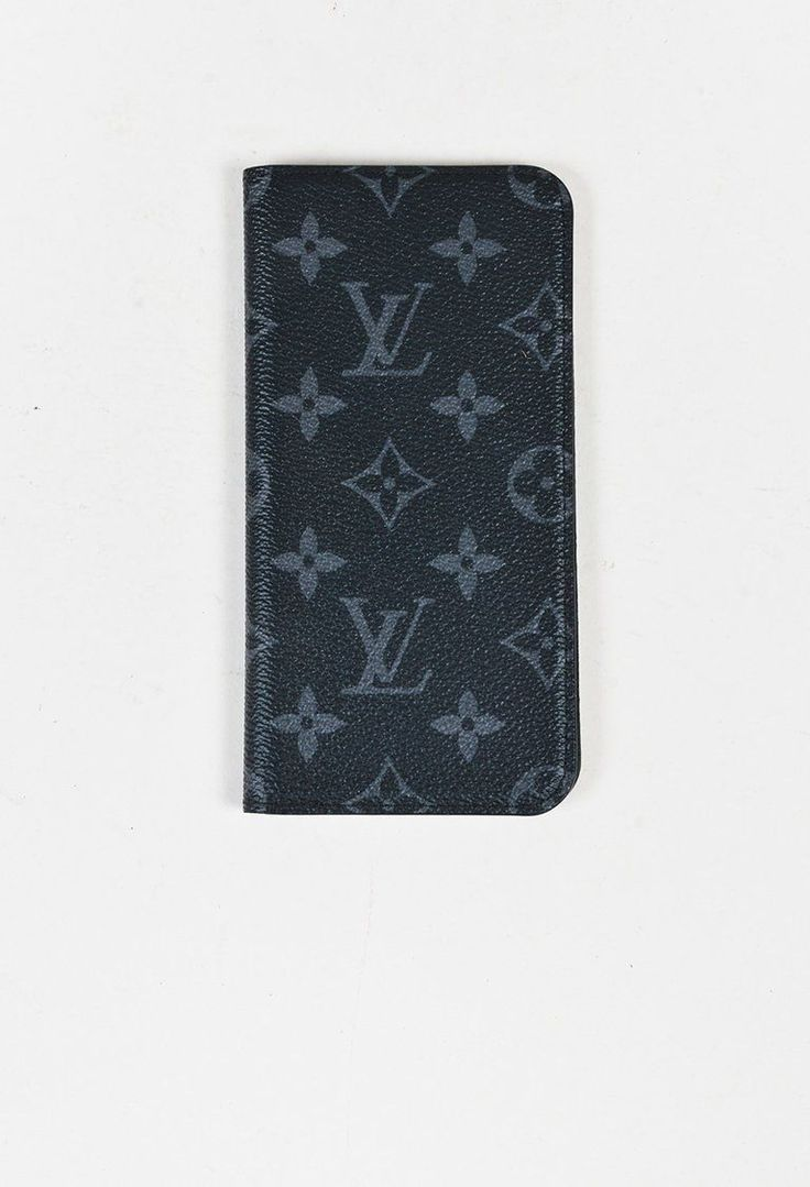 Louis Vuitton Black & Grey Monogram Eclipse Canvas iPhone 7 Plus Folio Case