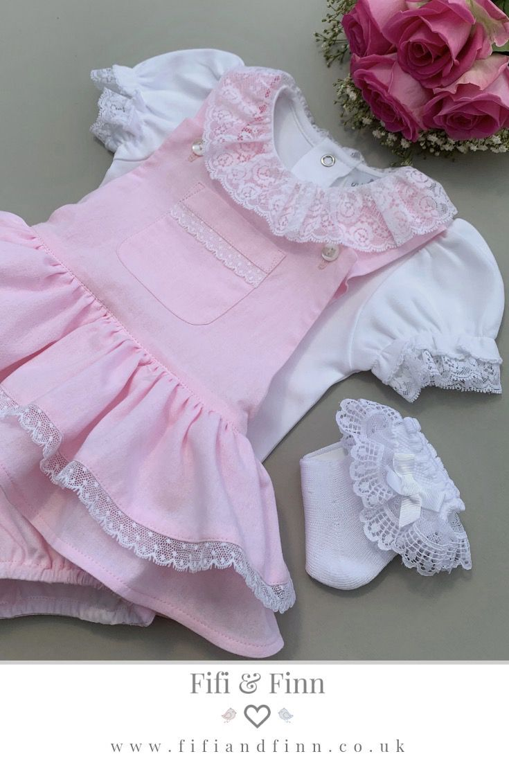 Traditional Beautiful floral velour baby girls dress Spanish Style