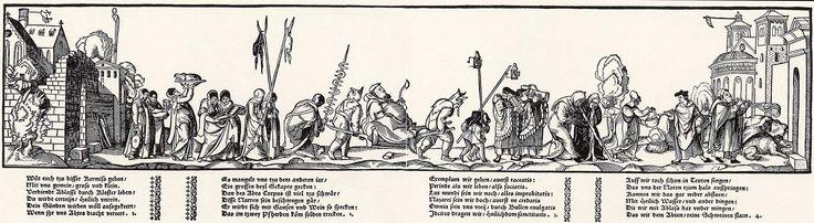 Artist: Flötner, Peter, Title: Prozession der Pfaffen, Date: 1535