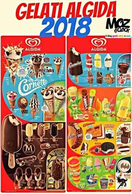 """ALGIDA 2018: ecco tutti i gelati Manca ancora qualche mese all'estate ma come sempre l'azienda del Cornetto, l'Algida, anticipa il caldo illustrandoci le novità della bella stagione 2018! Alcuni nuovi prodotti, come il sandwich-gelato """"4 o'Clock"""", sono già disponibili nei bar, ma altri stanno per arrivare. O per tornare, come ne #gelati #algida #dolci #estate"""