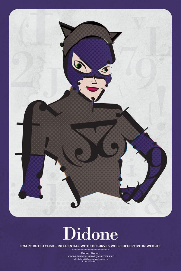 Impressive Superhero Typographic Posters by Matthew Olin
