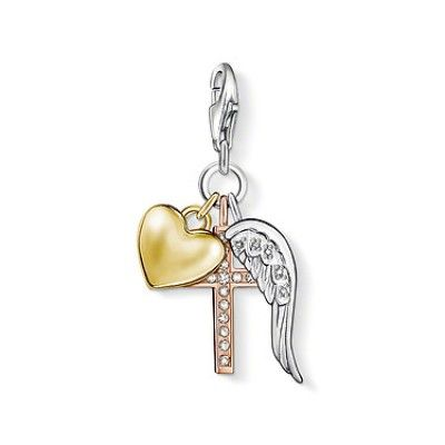 """THOMAS SABO Charm Club Charm """"Cross/Heart/Wing"""""""