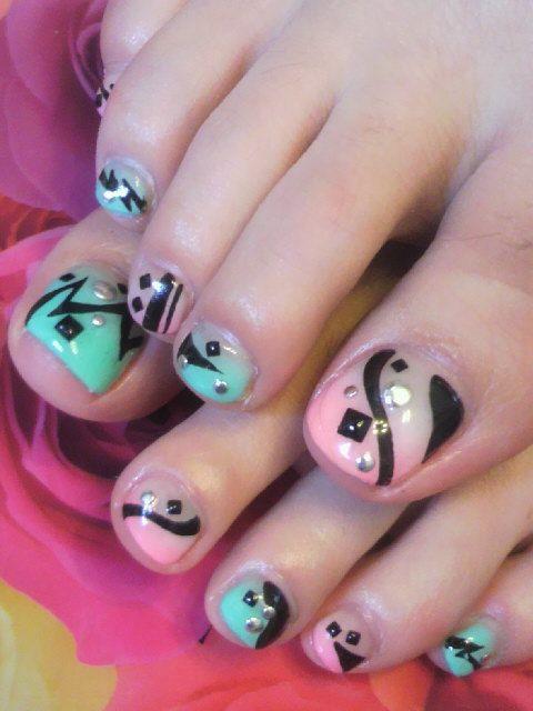 Ayako Nailart Toes Toe Nails Designs Pinterest Nail