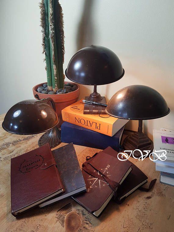 Vintage industrial cast iron foot goose neck desk lamps #vintage #industrialdecor