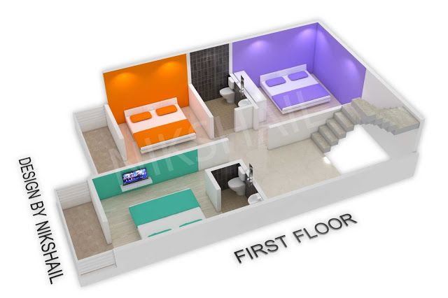 20x30 House Plan With 3d Elevation By Nikshail 20x30 House Plans House Plans Small House Design