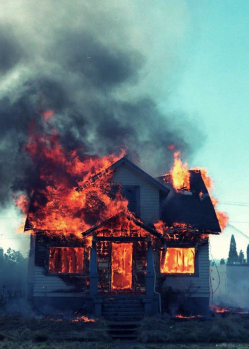 """""""The blistering flames rising above the house were just waving goodbye to everyone who was watching. And even for those not watching it was a piece of history dropping to its knees before disappearing forever."""" (pg191)  Burning a house doesn't only harm the people inside of it but also the memories created within it."""