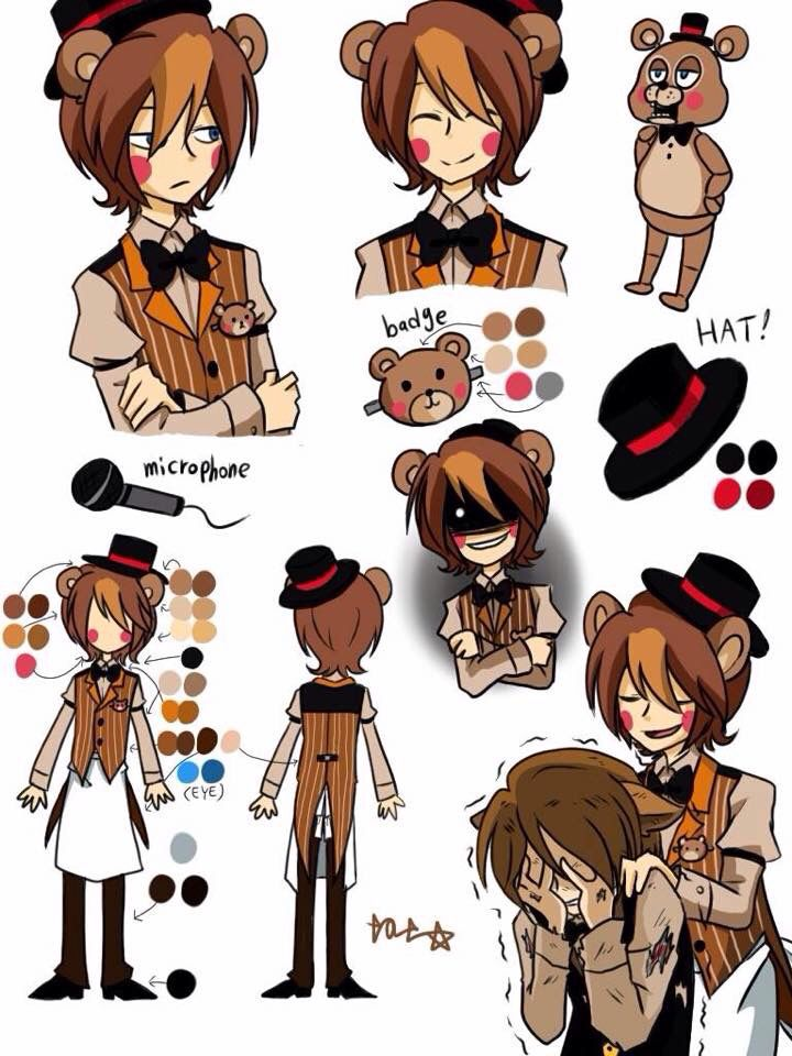Anime Character 5 : Best images about five nigths at freddys on pinterest