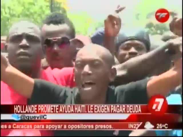 Presidente De Francia Promete Ayuda Para Haití, Pero Les Exige Que Sigan Pagando Su Deuda #Video