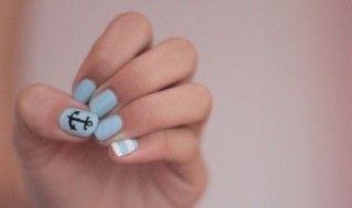 ooh la la: Sailor Nails, Anchors, Style, Anchor Nails, Nailart, Nail Design, Nail Ideas, Nail Art, Nautical Nails