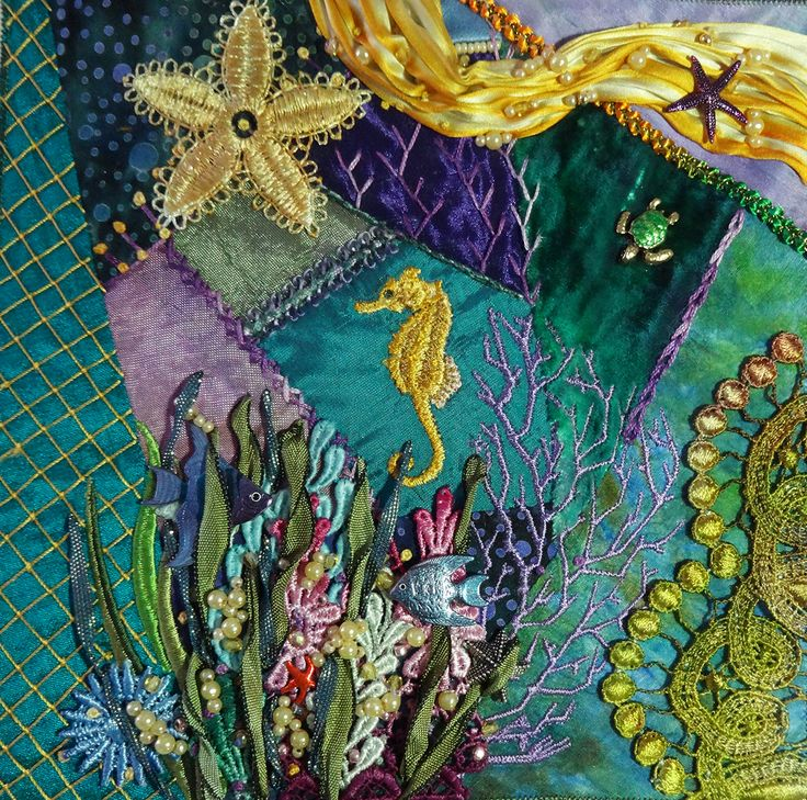 Crazy Quilt Fanatic - beautiful work by Holly Thompson