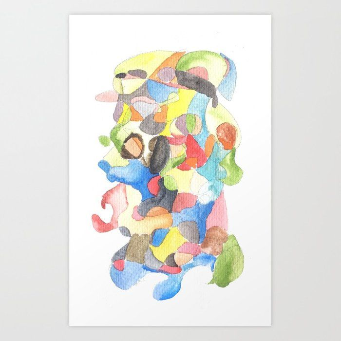 Buy Life And Meaning 5 Abstract Watercolors Art Print By
