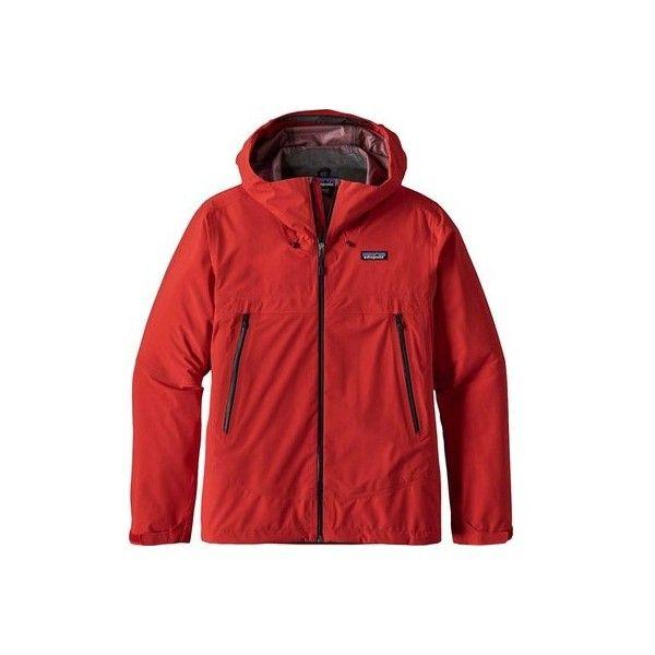 Men's Patagonia Cloud Ridge Jacket ($249) ❤ liked on Polyvore featuring men's fashion, men's clothing, men's activewear, men's activewear jackets, yellow and mens activewear