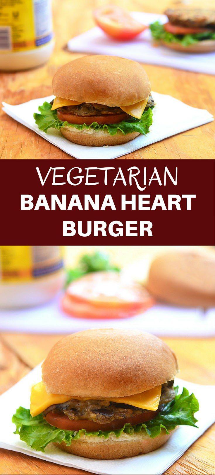 Banana Heart Burger Recipe Kawaling Pinoy Recipes Recipes