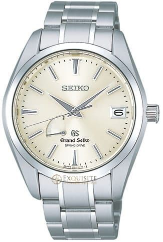 Grand Seiko Spring Drive Power Reserve SBGA001.Stainless Steel case, Spring Drive movement, High definition dual-curved sapphire crystal with anti-reflective coating, See-through screw case back with sapphire crystal, 100M water resistant