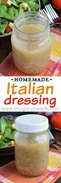 Homemade Italian dressing recipe: perfect on salads or use as a marinade for poultry!