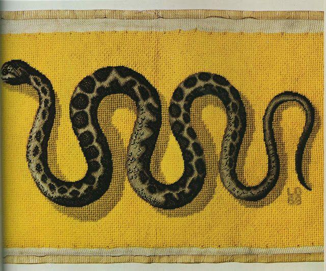 Mrs Blandings Needlepoint Snake Pillow Front Beautiful