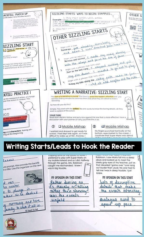 Sizzling Starts Narrative Writing Narrative Writing Writing Lessons Elementary School Activities
