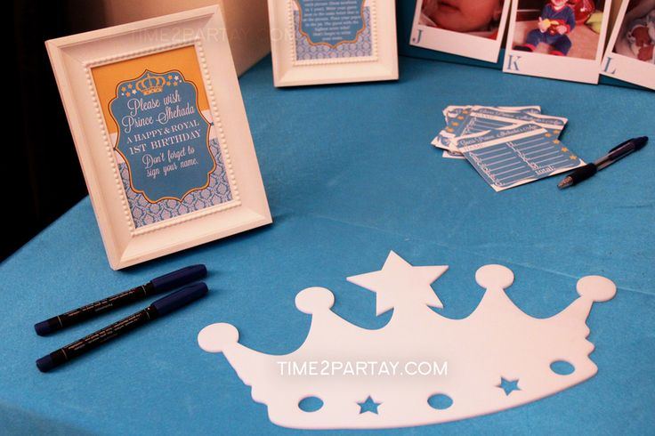 A Royal First Birthday for a Little Prince | CatchMyParty.com