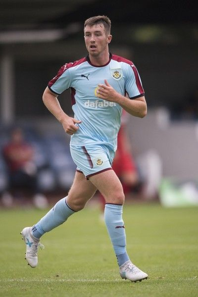 Chris Long of Burnley during a pre season friendly match between Kidderminster Harriers and Burnley at Aggborough Stadium on July 22, 2017 in Kidderminster, England.