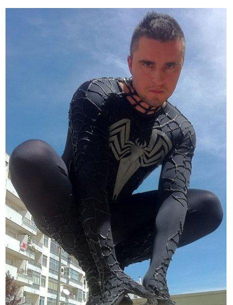 VENOM SLIM FIT Suit Black Spiderman Costume