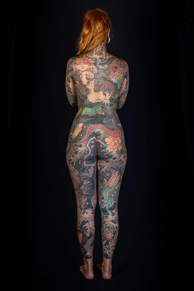 Japanese full body tattoos women