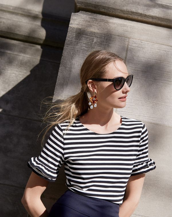 An office-appropriate tee? It does exist at J.Crew. To pre-order, call 800 261…