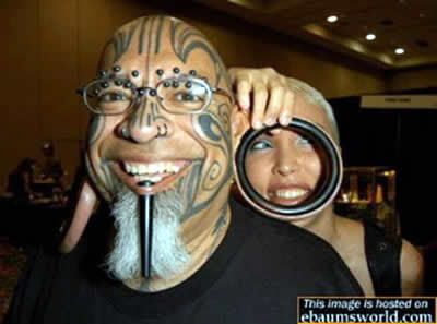 20 Strange Tattoos and Ugly body modifications ~ CRAZY PICS !