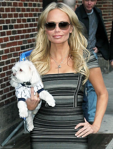 Kristin Chenoweth and her pup
