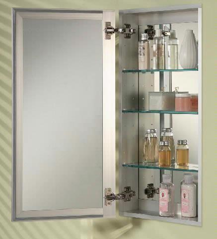 Afina, Broadway Frameless Single Door Medicine Cabinet