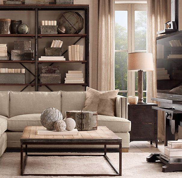 Restoration Hardware Office Furniture #17: Restoration Hardware Office Furniture   Replica Of A Vintage American Factory Bin, Right Down To