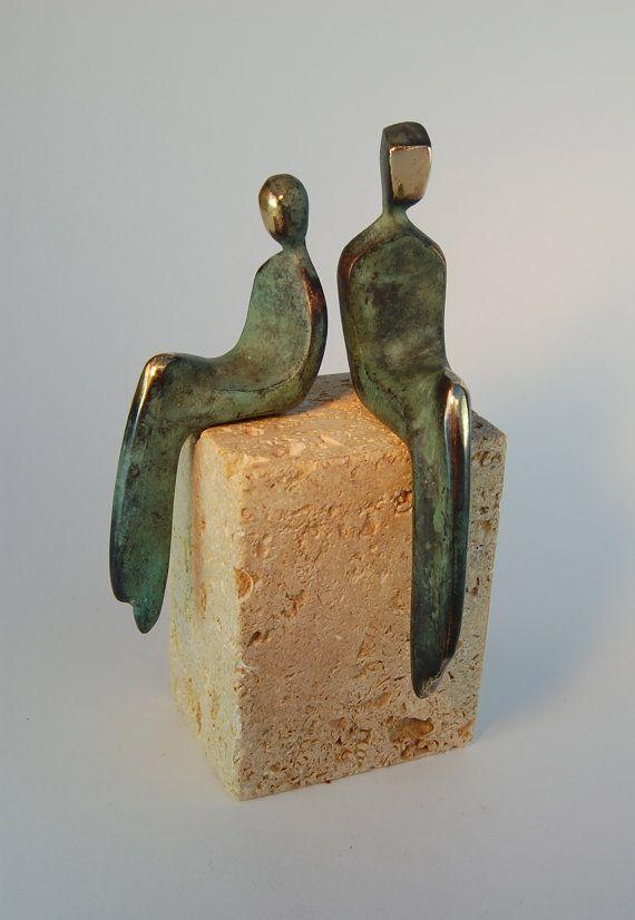 LOVING COUPLE Beautifully Finished Cast Bronze par YennyCocq