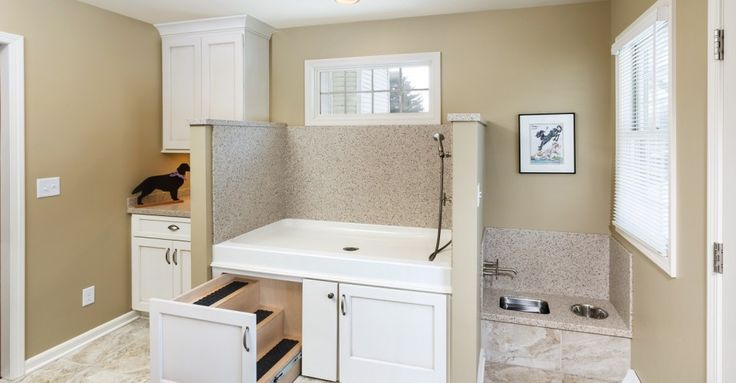 This home's mud room addition was custom built to provide plenty of resources for the family's dogs. See how this functional space was designed to cater the needs of both the family and their loved pets.