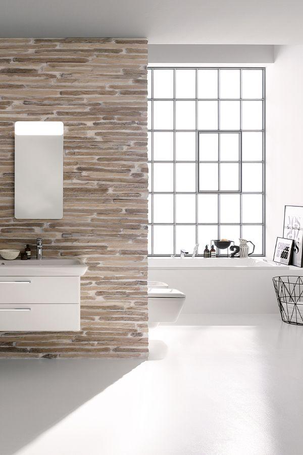 Leroymerlin Leroymerlinpolska Dlabohaterowdomu Domoweinspiracje Lazienka Lustro Bialeszafki Duzalazienka Oknowlazience Merlin Bathtub Bathroom
